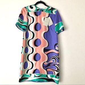 NWT - Authentic Emilio Pucci Mini Dress 100% silk